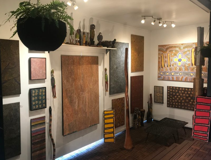 Red Sand Art Gallery in snug surrounds