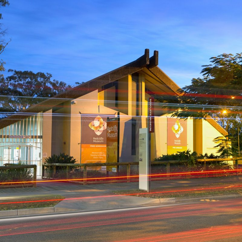 Redcliffe Museum Front Entrance Evening