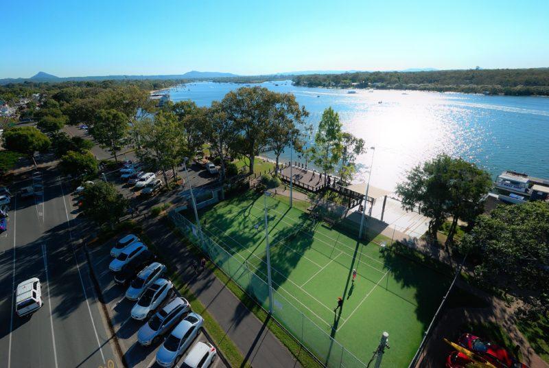 Adjacent Tennis Courts