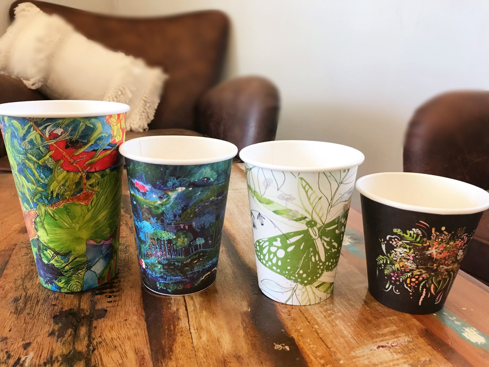 Bio cups used onsite