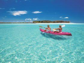 Kayaking up Wathumba Creek, Fraser Island