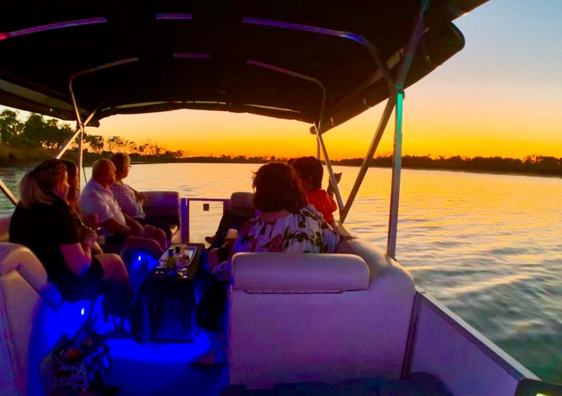 Witness the magic of a Sunset over the Fitzroy River