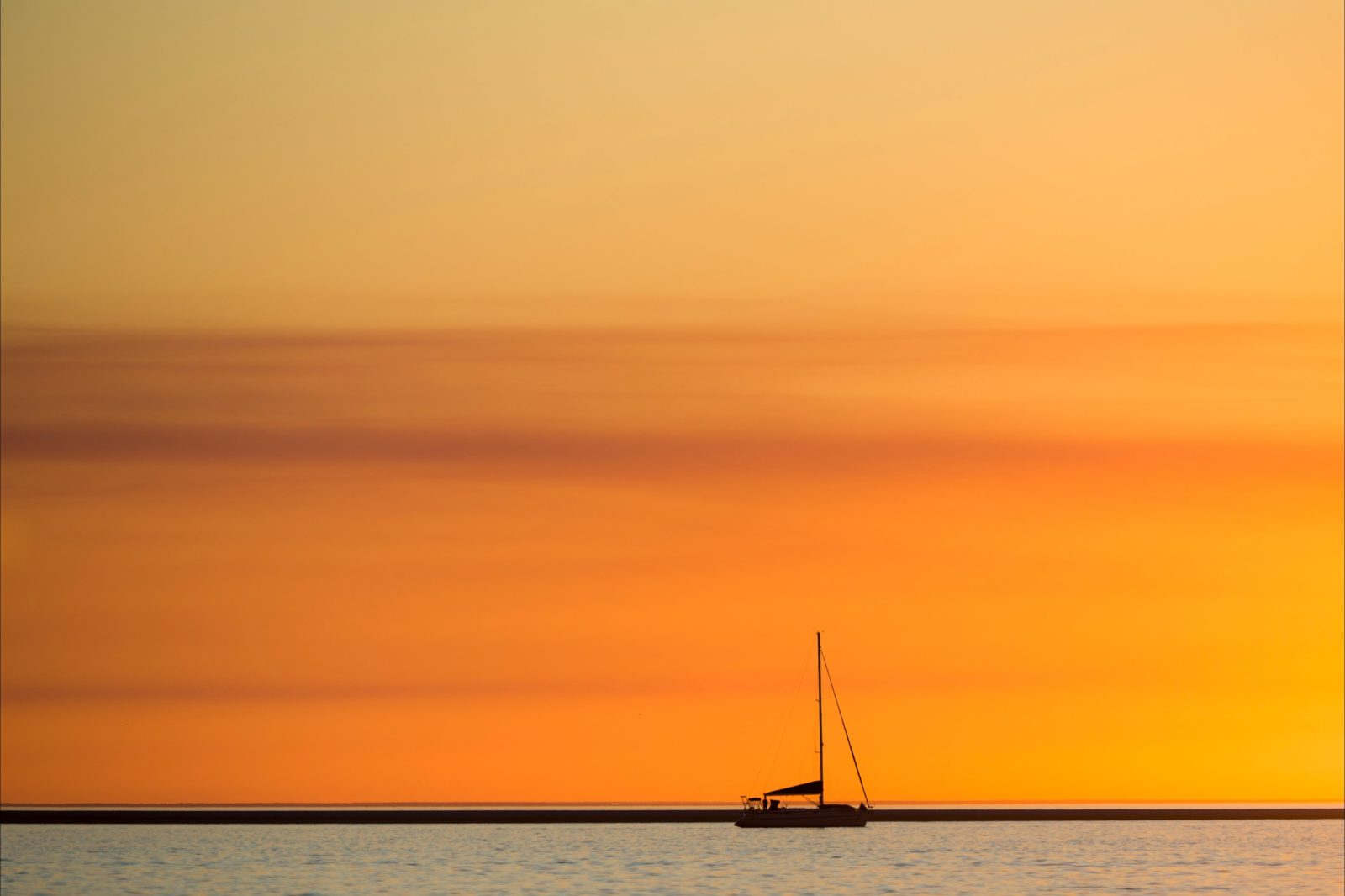 Sunset on the Great Sandy Straits, River Heads, Fraser Coast.