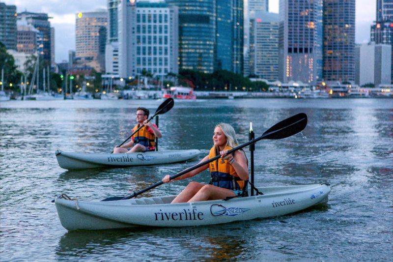 Night Kayak Paddle Riverlife Brisbane