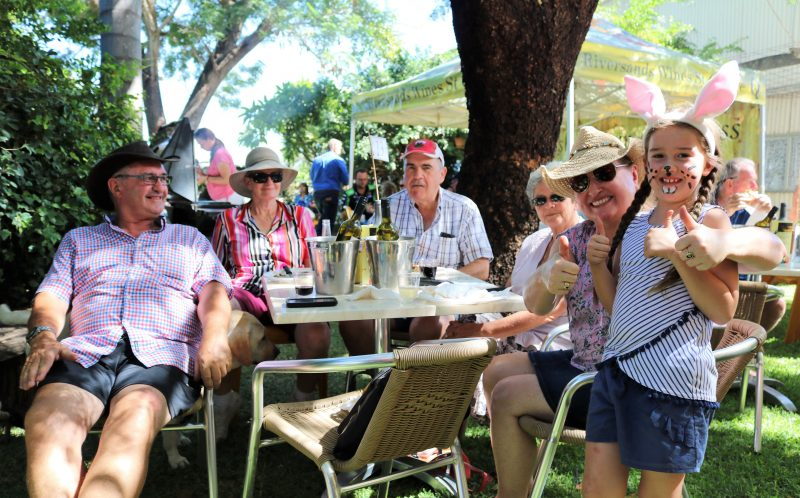 Crowds gathered at Riversands Wines