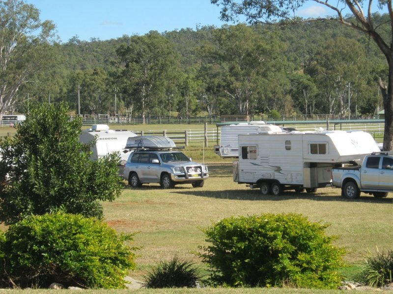 Overnight Caravanners camping in the Centre's grounds