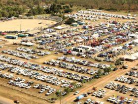 Rotary FNQ Field Days aerial shot