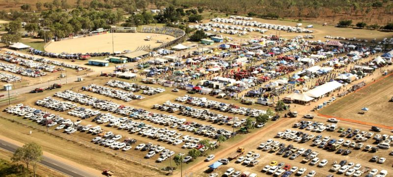 Rotary FNQ Field Days aerial shot
