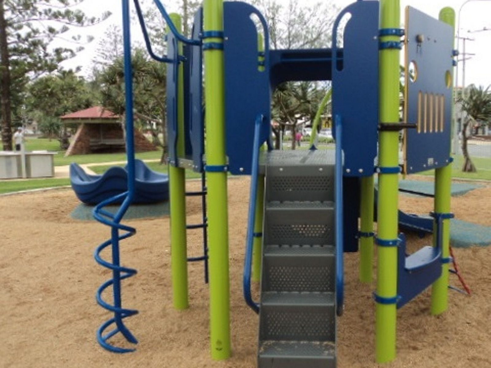 Childrens play equipment at Roughton Park