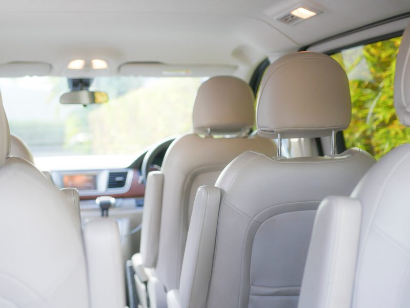 5 individual soft leather seats reclining for the longer journeys