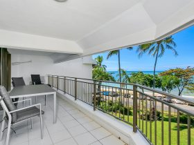 Beachfront apartments with private balcony to enjoy the tropical sea breezes and sea views.