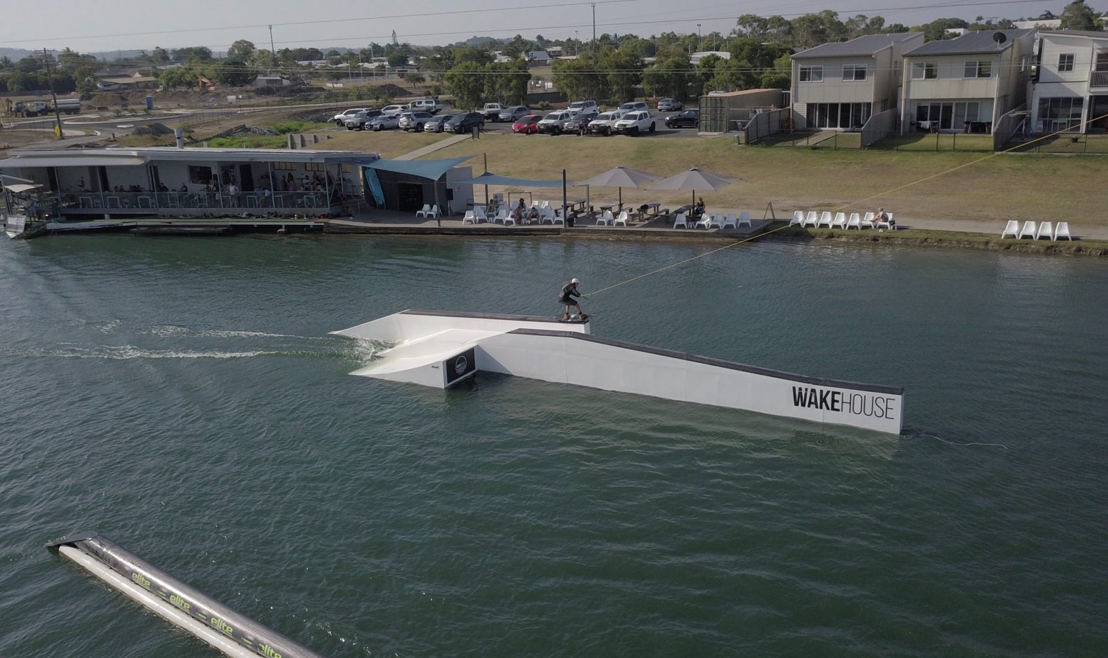 Wakeboarding competition in Australia, cable ski park, wake park.