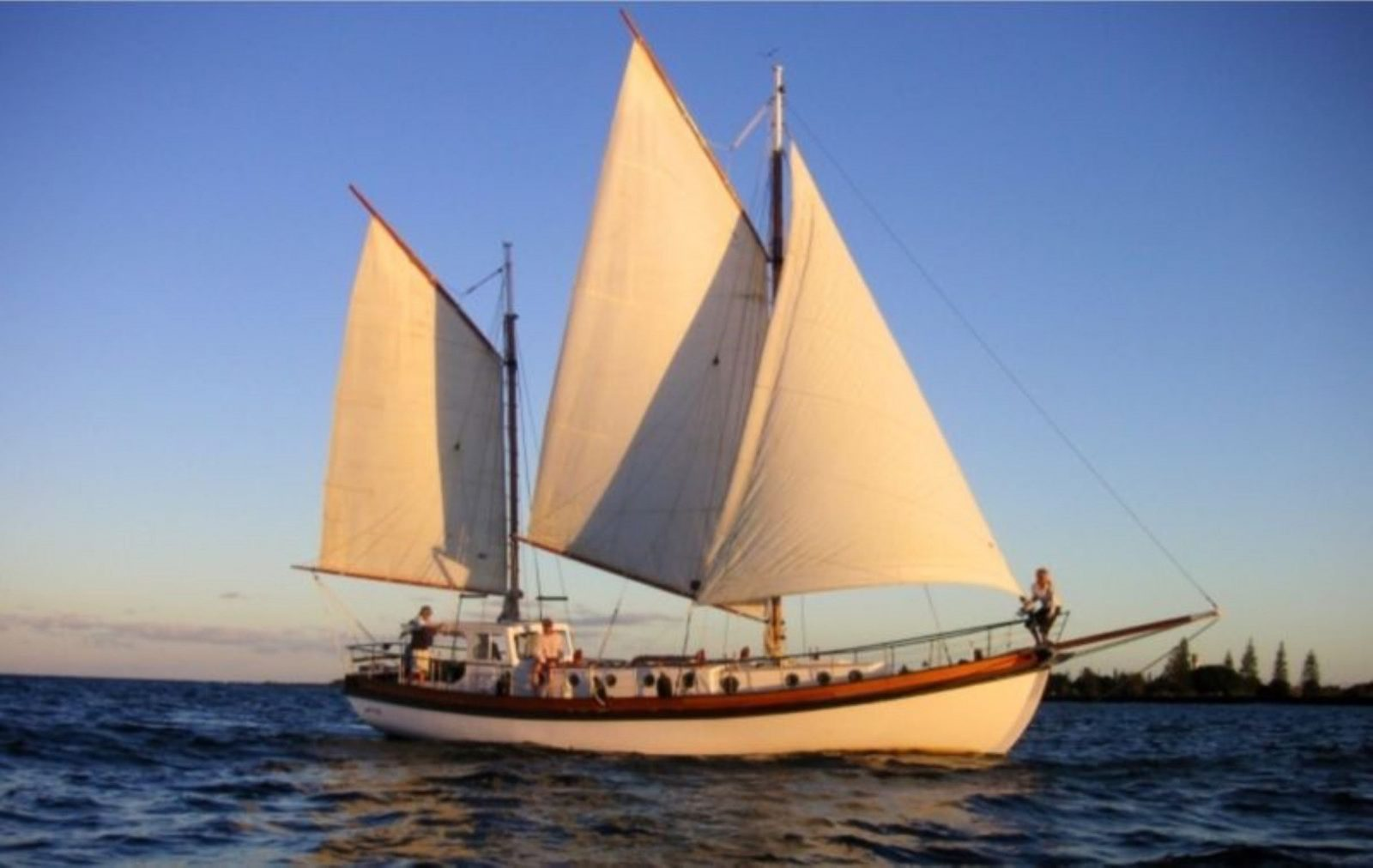100 year old gaff rigged timber ketch