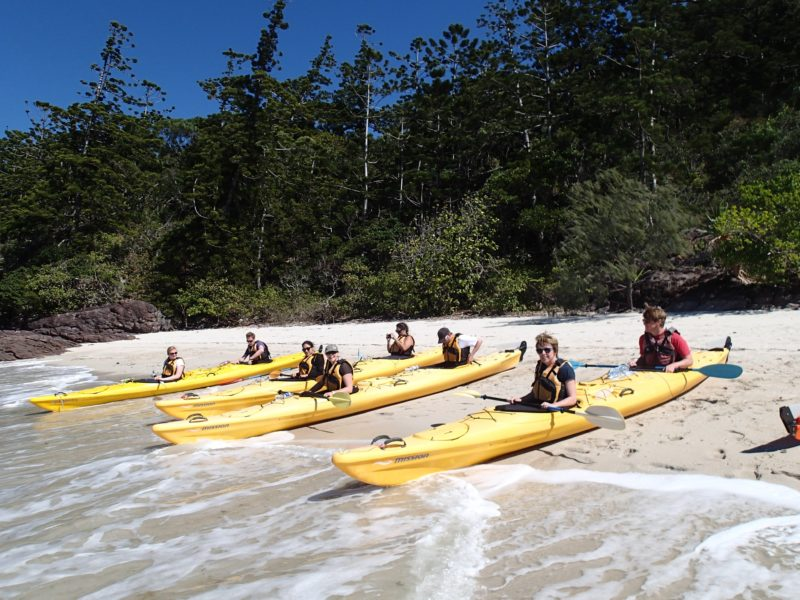Kayakers at Cane Cockie's Beach