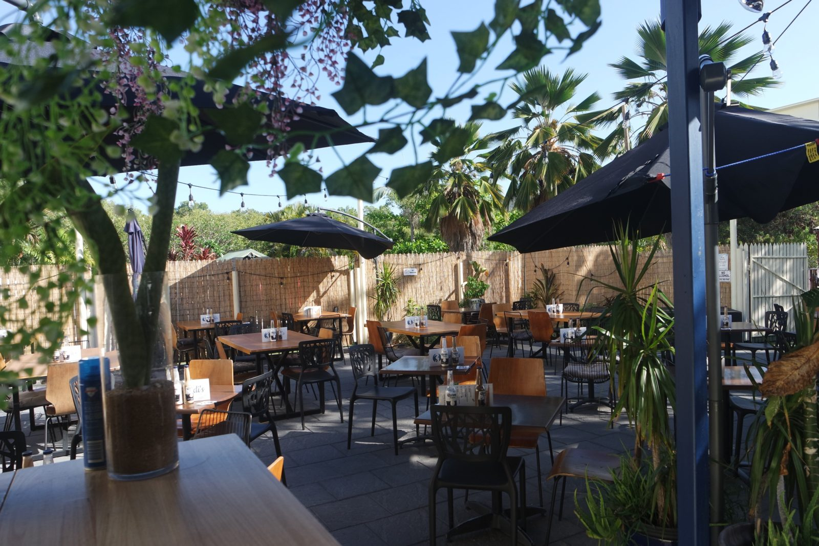 Sandi's outdoor area and bar