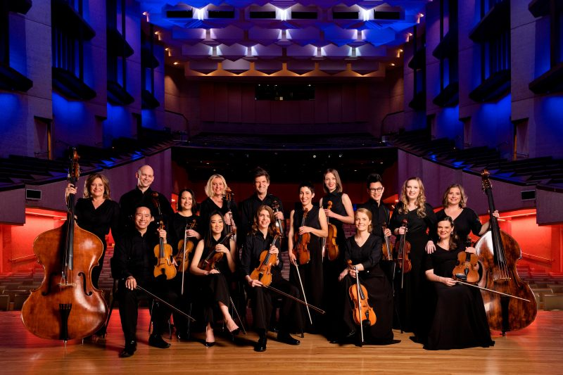 Camerata musicians on stage at the Concert Hall QPAC