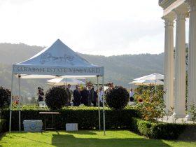Sarabah Estate Vineyard Wedding on the Manor Lawn