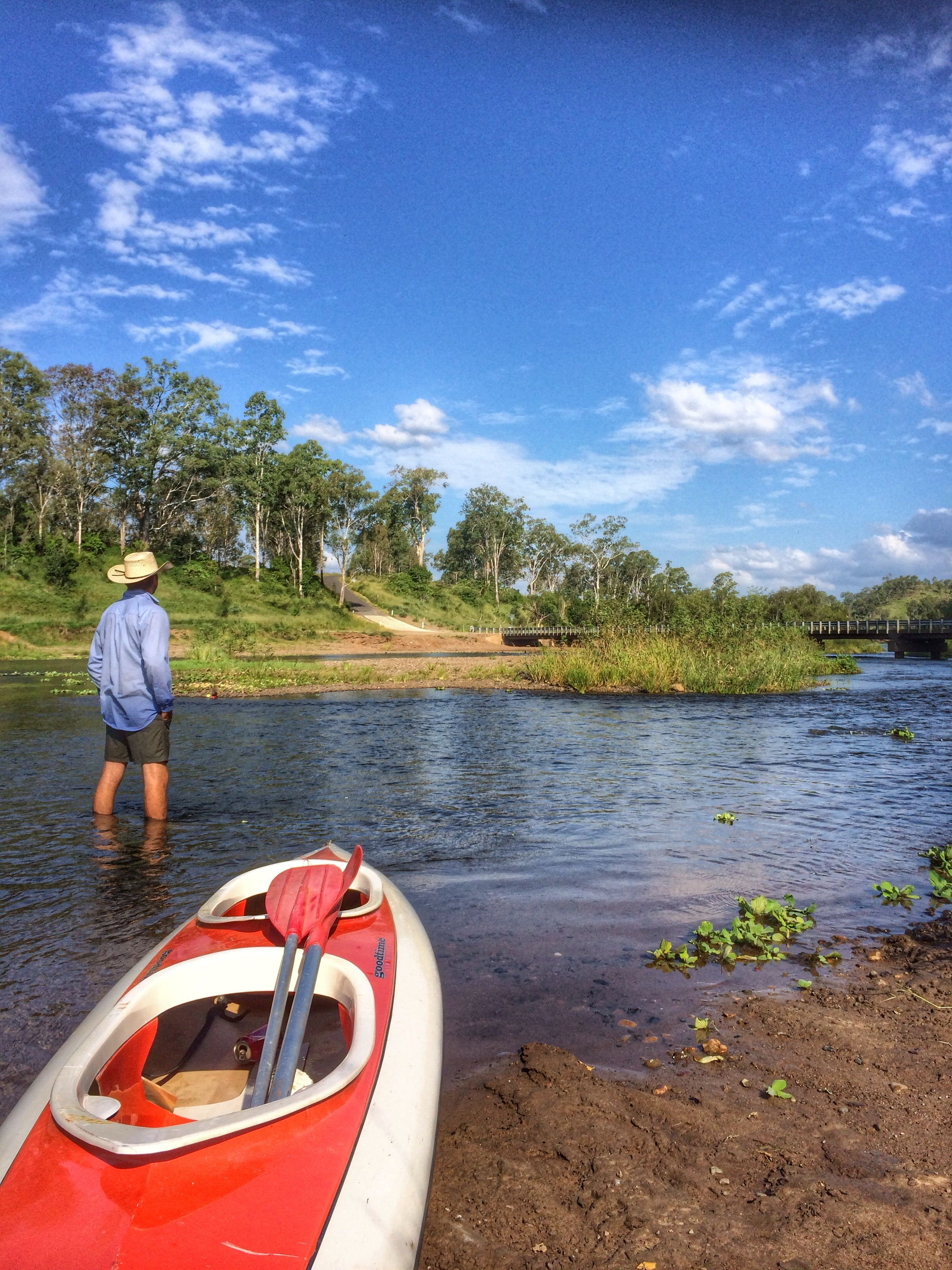 Kayaking at Savages Crossing in Fernvale