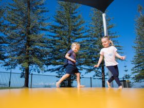 Scarborough_beach_park_jumping_pillow_moreton_bay_region