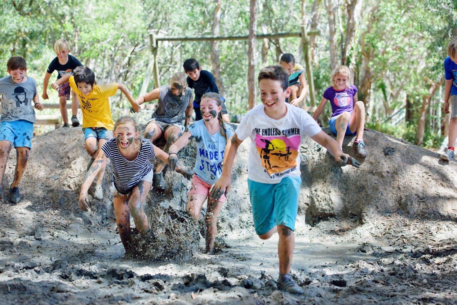 Mud Pit Challenge Course