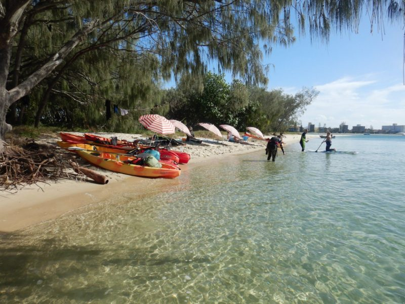 Chill out zone on Wave break Island: free lunch,stand up paddle board&transparent kayak experience