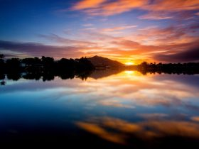 Secura Lifestyle The Lakes Townsville - Sunset over the Currelea Lake