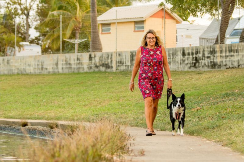 Lakeside strolls with your furry friend