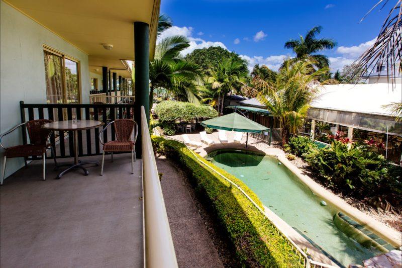 Balcony & Pool Area