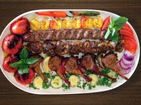Kabobs, Kebab, Prawns, Shishlik, cutlets
