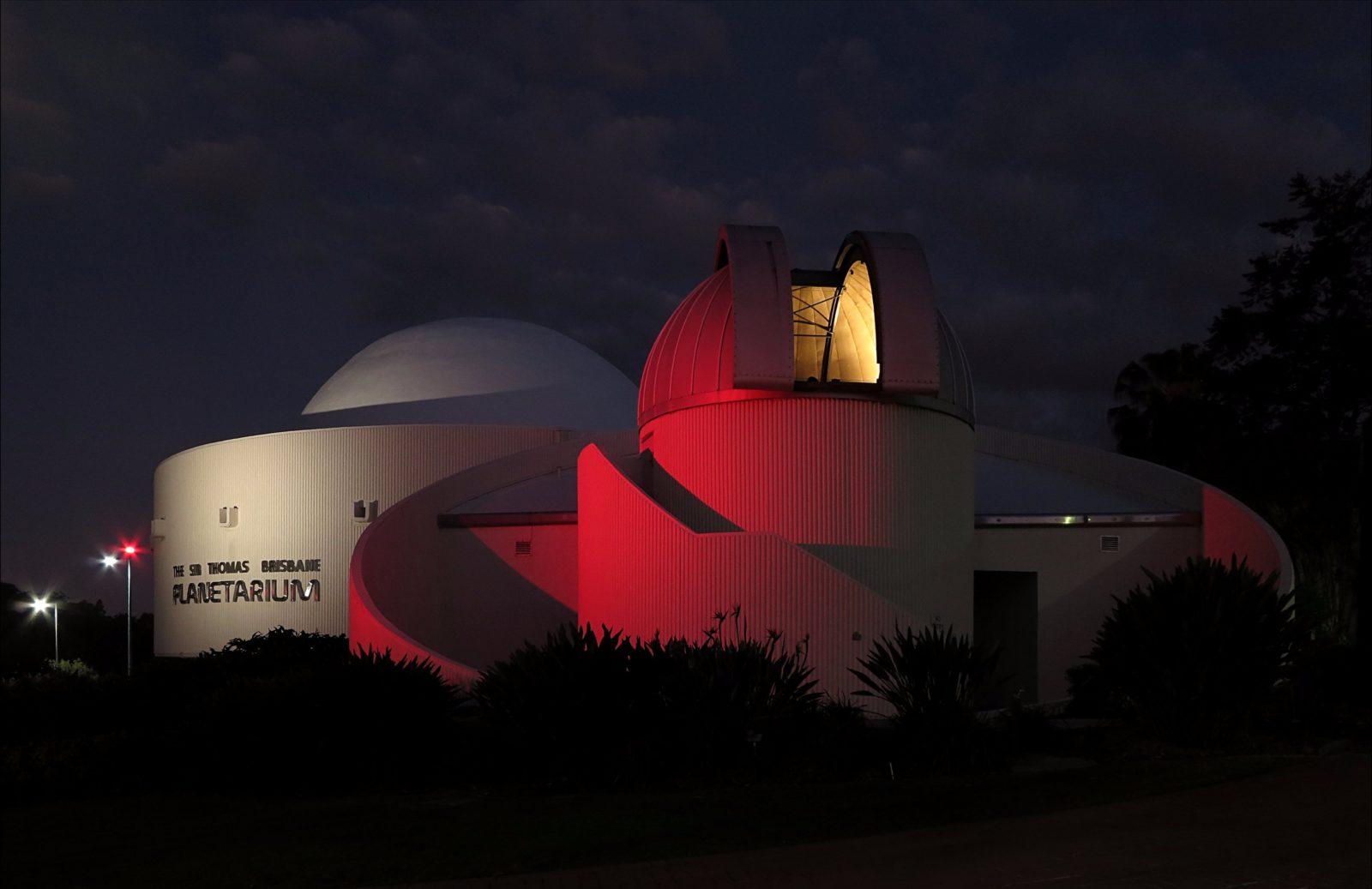 Planetarium at night