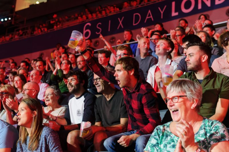 Fans at a Six Day Series event
