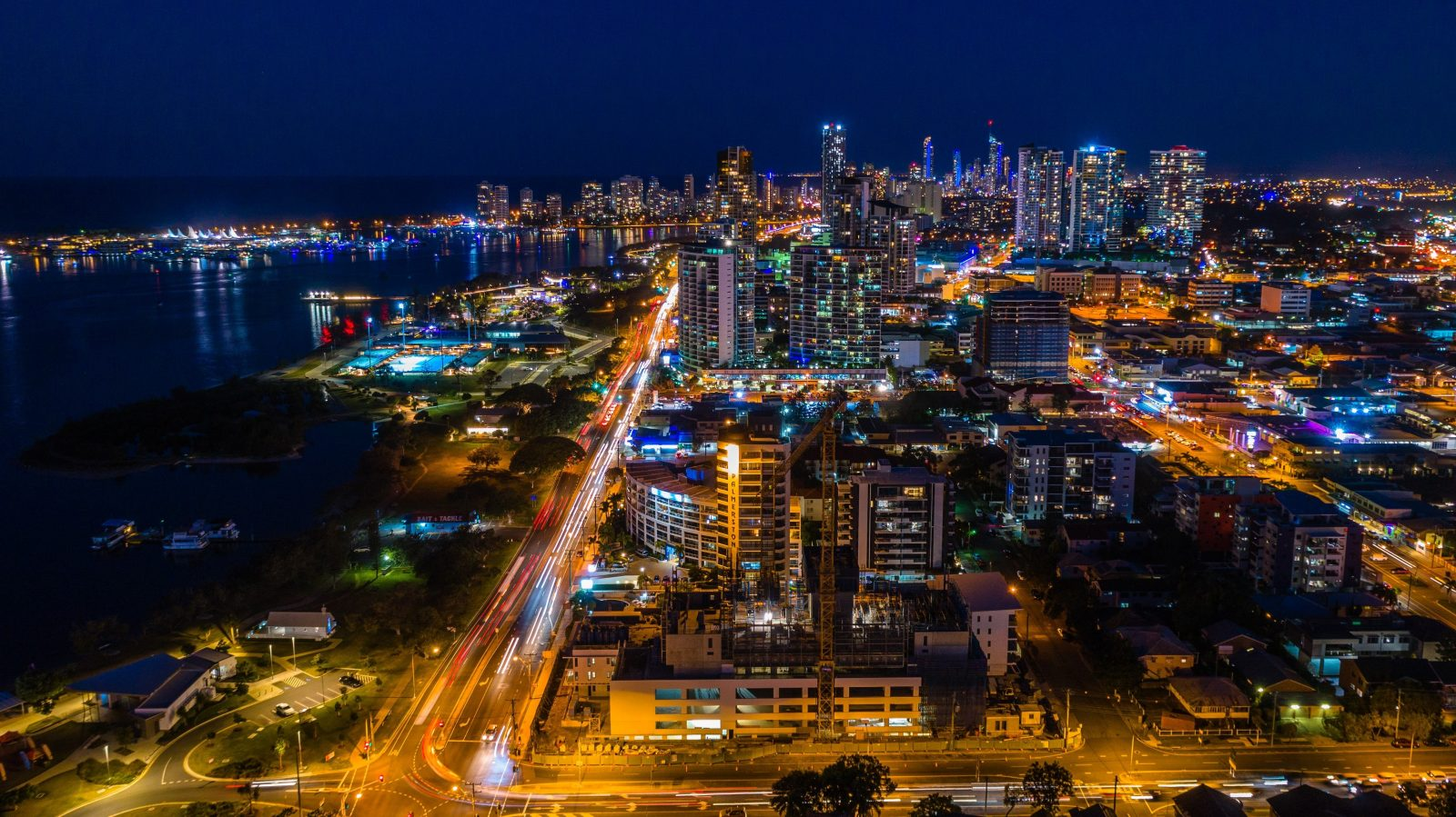 Night view from Sky Broadwater