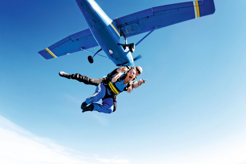 Freefalling from 15,000 ft up in the sky with Skydive Australia