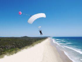 Skydive Ramblers Sunshine Coast - Tandem Landing near Twin Waters