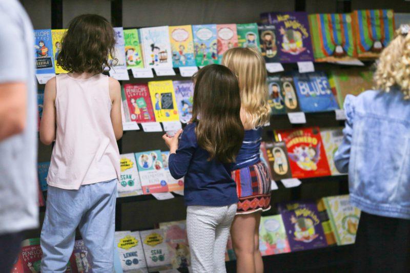Kids in bookshop