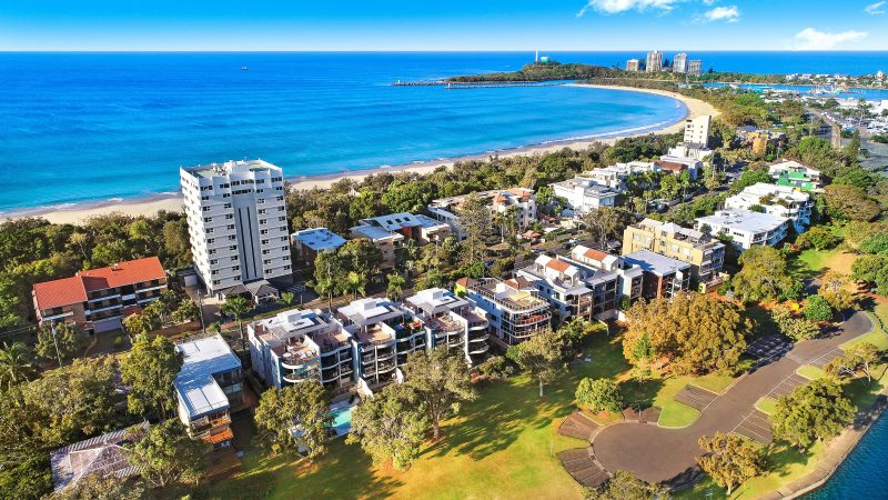 Just across the road to the amazing Mooloolaba Beach