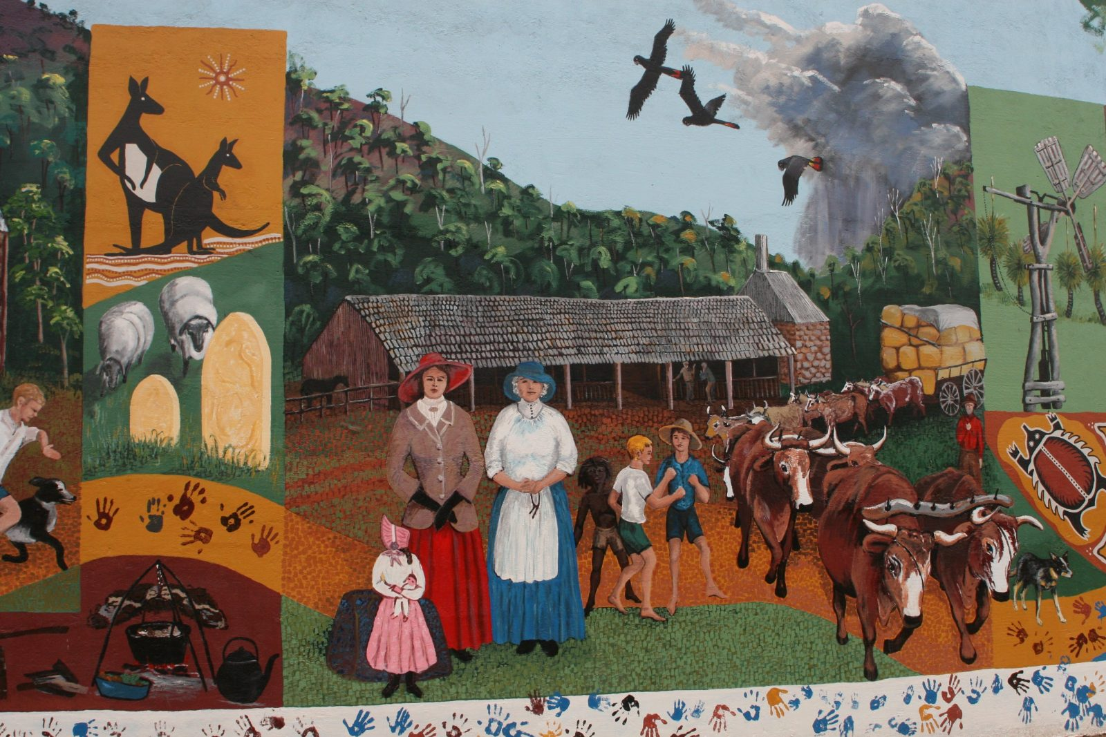 Part of the 'Spirit of the Land' Mural