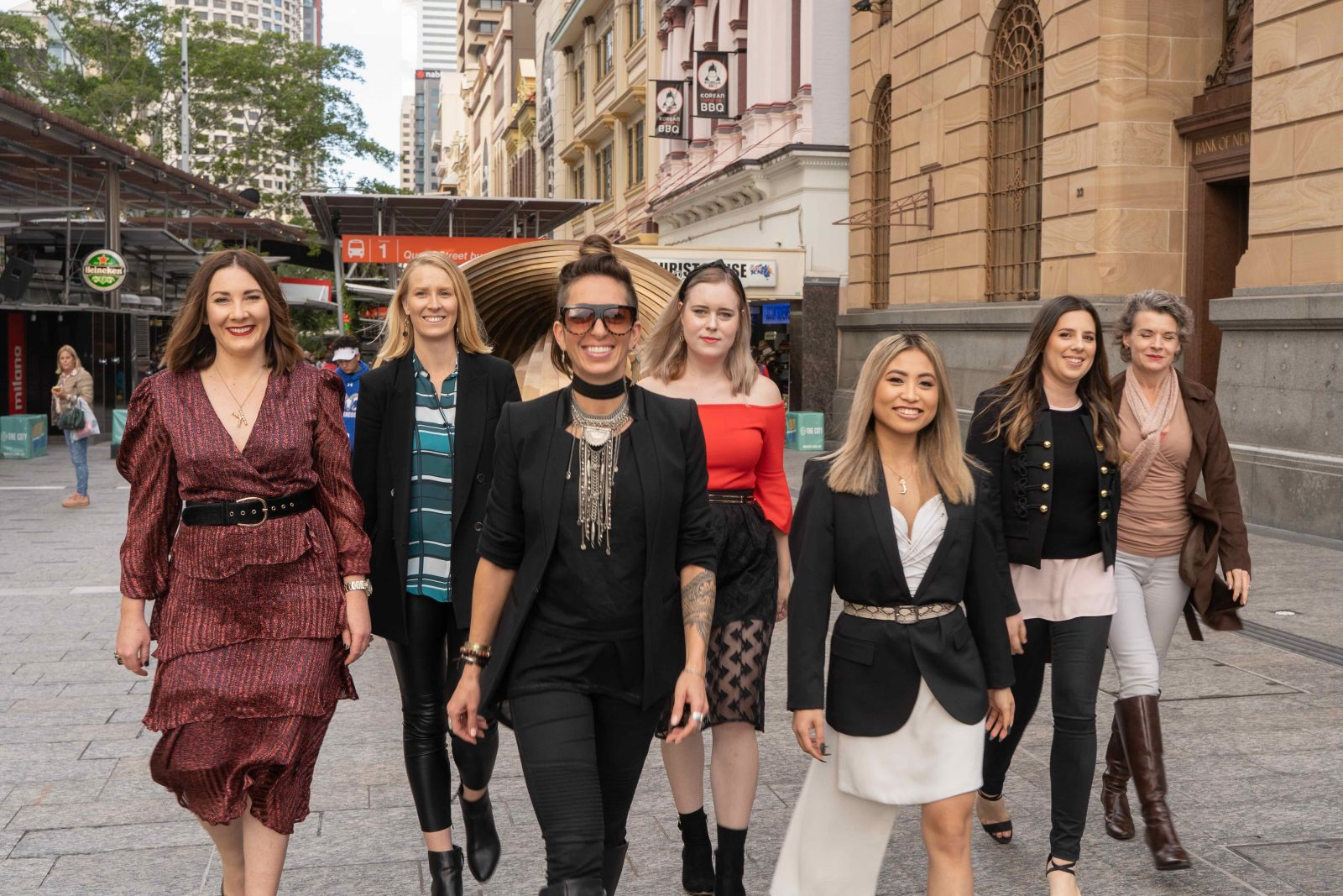 Stylists of Spree with Me walking up the Queen Street Mall
