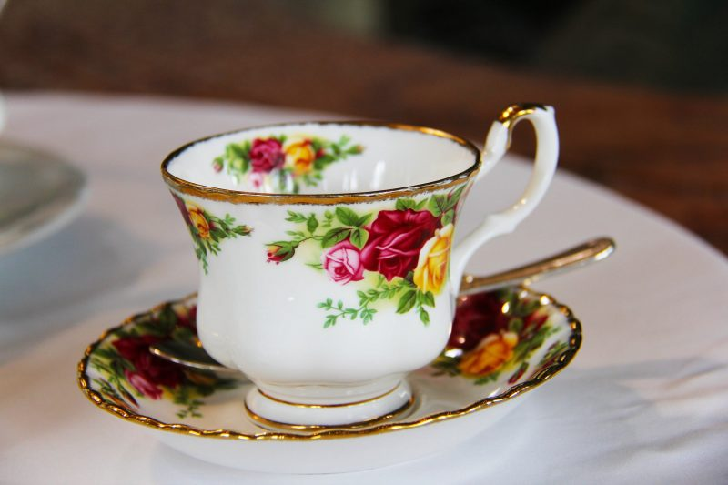 Decorative cup and saucer