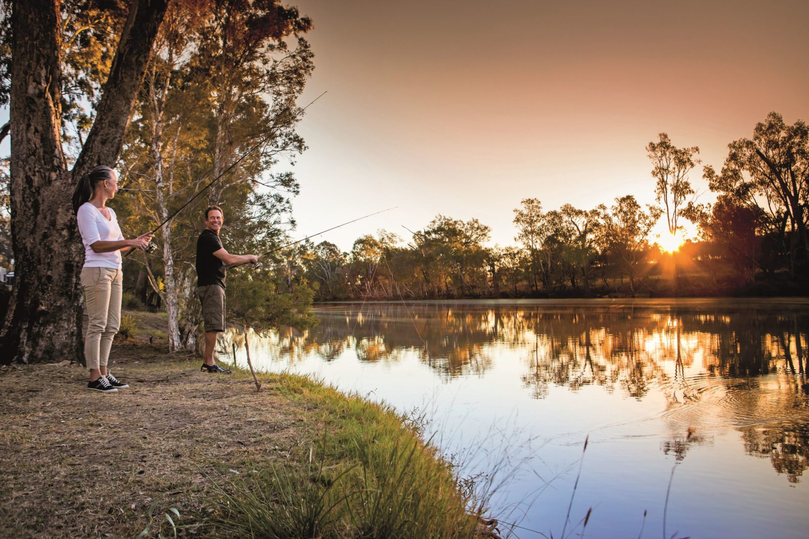 Fishing on the Balonne River