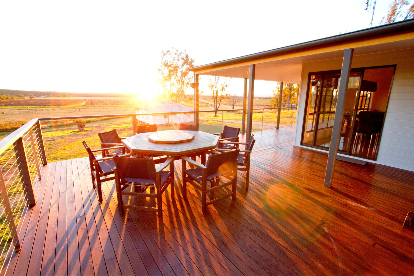 Capture the beautiful sunsets from the spacious deck at Stockton Rise