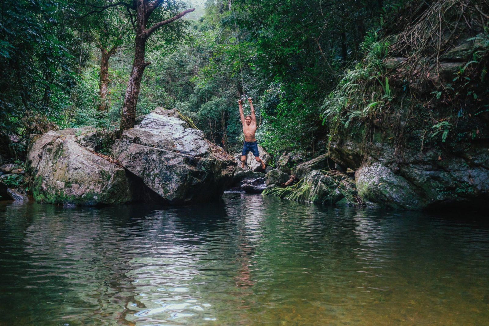Rope swing at stoney creek