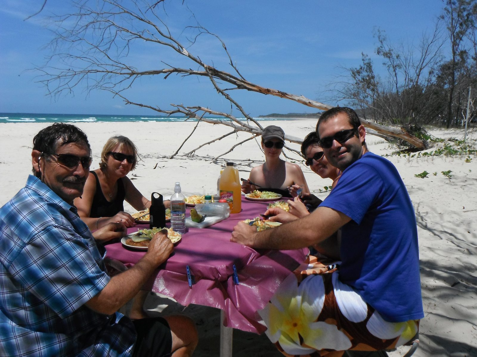 This is our unique beach BBQ lunch spot where you can sit and watch nature at play.