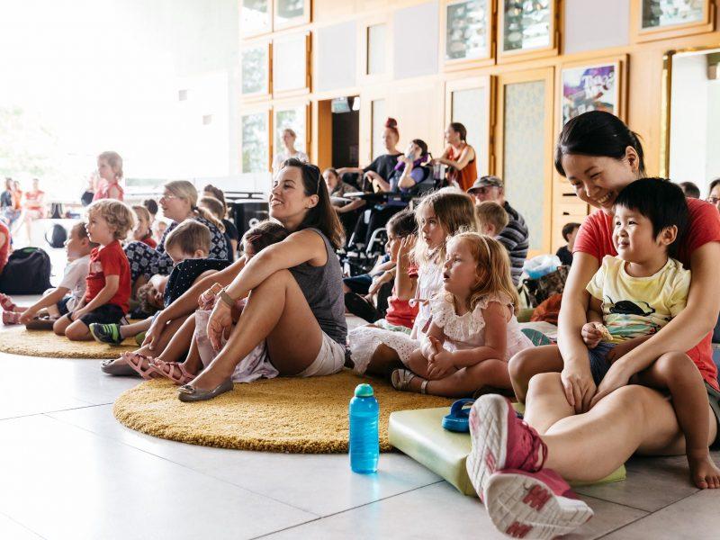 Children watching a music performance
