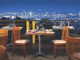 The Pavilion Room offers sensational views of Brisbane City
