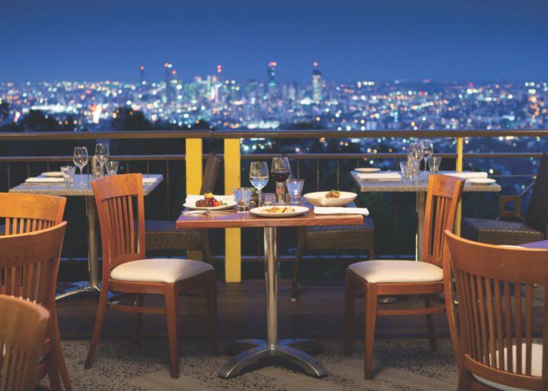 The Pavilion Room offers sensational views of Brisbane City