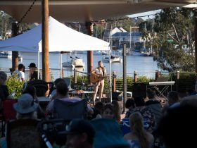 Sunday Riverside Free monthly concert at the Brolga Theatre on the banks of the Mary River