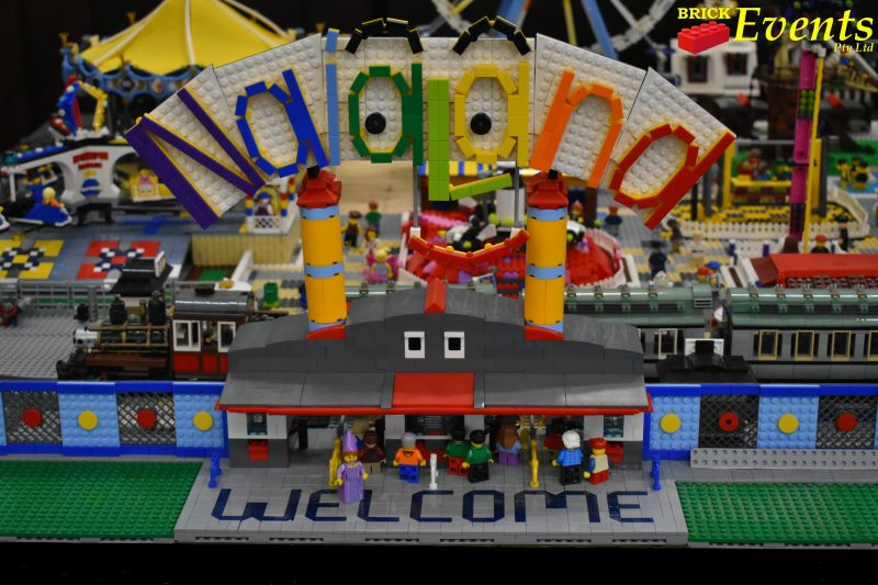 LEGO sign for NaiaLand themepark display