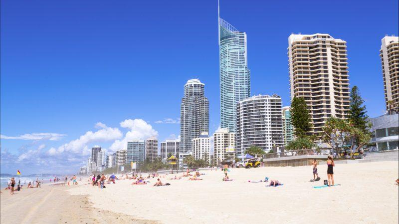 People on Surfers Paradise Beach