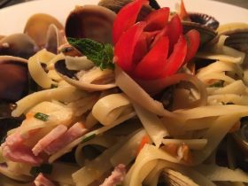 Lighthouse Hotel seafood pasta dish